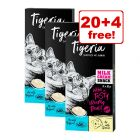 24 x 10g Tigeria Milk Cream Mix Cat Snacks - 20 + 4 Free!*