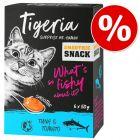 6 x 50 g Tigeria Smoothie Snack za zkušební cenu!