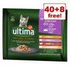 48 x 85g Ultima Cat Sterilised  Wet Cat Food -  40 + 8 Free!*