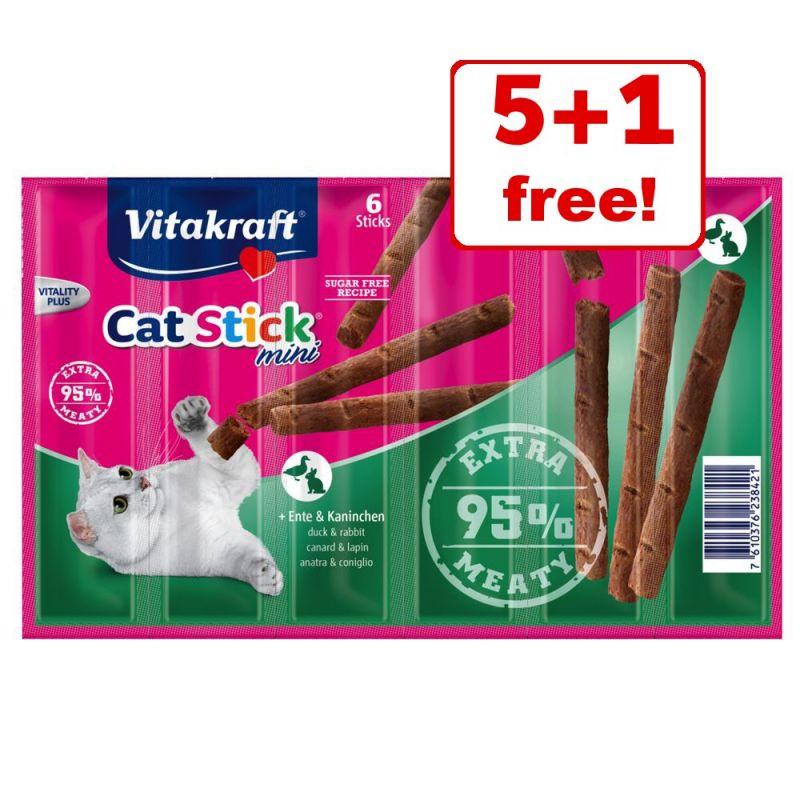 6 x 6g Vitakraft Mini Cat Sticks - 5 + 1 Free!*