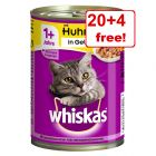 24 x 400g Whiskas 1+ Cans - 20+ 4 Free!*