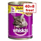 48 x 400g Whiskas 1+ Cans Wet Cat Food - 40 + 8 Free!*