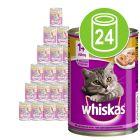 24 x 400 g Whiskas 1+ Conserve