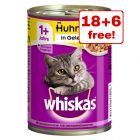 24 x 400g Whiskas 1+ Wet Cat Food Cans - 18 + 6 Free!*