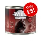 6 x 200g Wild Freedom Adult Wet Cat Food - Only £5!*
