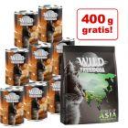 24 x 400 g Wild Freedom + 400 g Spirt of Asia hrană uscată gratis