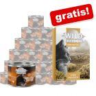 24 x 200 g Wild Freedom hrană umedă  + 6 x 70 g Instinctive gratis!