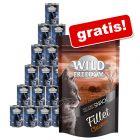 24 x 400 g Wild Freedom Nassfutter + Wild Freedom Filet Snack gratis!