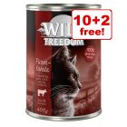 12 x 400g Wild Freedom Wet Cat Food - 10 + 2 Free!*