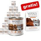 24 x 800g  Wolf of Wilderness Adult + 1 kg Performance gratis!