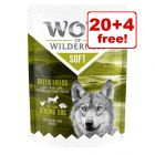 "24 x 300g Wolf of Wilderness Adult ""Soft"" Pouches - 20 + 4 Free!*"