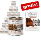 24 x 800 g Wolf of Wilderness Adult umido + 1 kg Performance secco gratis!