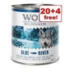 24 x 800g Wolf of Wilderness Adult Wet Dog Food - 20 + 4 Free!*