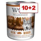 12 x 800 g Wolf of Wilderness: 10 + 2 kaupan päälle!