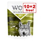 """12 x 300g Wolf of Wilderness """"Soft"""" Pouches Wet Dog Food - 10 + 2 Free!*"""