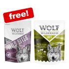 """24 x 300g Wolf of Wilderness """"Soft"""" Pouches + Wild Bites Dog Snacks Free!*"""