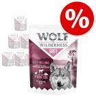 "6 x 300 g Wolf of Wilderness ""Soft & Strong"" kapsičky za skvelú cenu!"