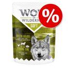 "6 x 300 g Wolf of Wilderness ""Soft & Strong"" rendkívüli árengedménnyel!"