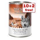 "12 x 400g Wolf of Wilderness ""The Taste of"" Wet Dog Food - 10 + 2 Free!*"