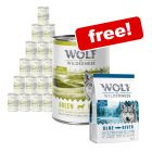 24 x 400g Wolf of Wilderness Wet Dog Food + 400g Salmon Dry Food Free!*
