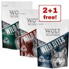 3 x 180g Wolf of Wilderness Wild Bites Dog Snacks Mixed Pack - 2 + 1 Free!*