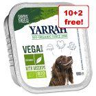 12 x 150g Yarrah Organic Grain-Free Wet Dog Food - 10 + 2 Free!*