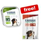 12 x 150g Yarrah Organic Vega Wet Dog Food + Yarrah Chew Sticks Free!*