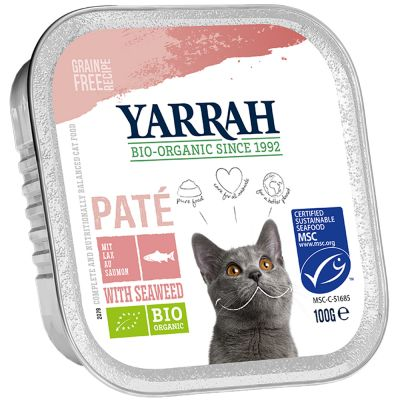 6 x 100g Yarrah Organic Wet Cat Food + 15g Yarrah Chew Sticks Free!*