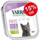12 x 100g Yarrah Organic Wet Cat Food Trays - 15% Off!*