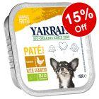 12 x 150g Yarrah Organic Wet Dog Food - 15% Off!
