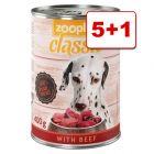6 x 400 g zooplus Classic: 5 + 1 kaupan päälle!