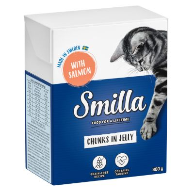 24 x 370g/380g Smilla Chunks Tetra Pak Wet Cat Food - Special Price!*