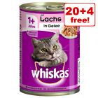 24 x 390g/400g Whiskas 1+ Cans Wet Cat Food - 20 + 4 Free!*