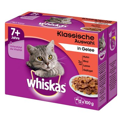 48 x 85g/100g Whiskas Wet Cat Food Pouches - 40 + 8 Free!*