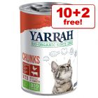 12 x 400g/405g Yarrah Organic Wet Cat Food - 10 + 2 Free!*