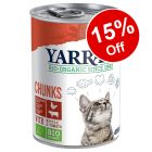 12 x 400g/405g Yarrah Organic Wet Cat Food - 15% Off!*