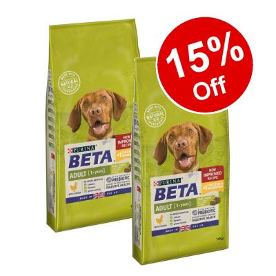2 x 14kg BETA Dry Dog Food - 15% Off!*