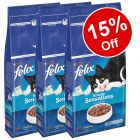 3 x 2kg Felix Sensations Dry Cat Food - 15% Off!*