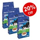 3 x 2kg Felix Sensations Dry Cat Food - 20% Off!*