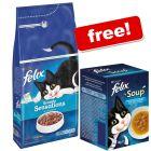 2 x 2kg Felix Sensations Dry Cat Food + 6 x 48g Fish Selection Soup Free!*