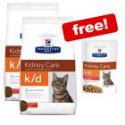 2 x 5kg Hill's Prescription Diet Feline Dry Food + 12 x 85g Pouches Free!*