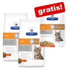 2 x 5 kg Hill's Prescription Diet k/d + 12 x 85 g umido abbinato gratis!