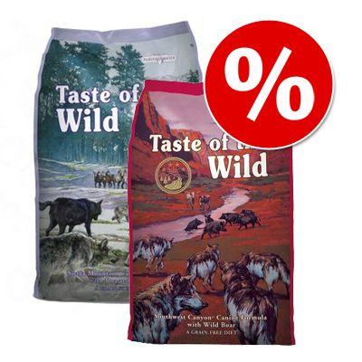 2 x 6 kg! 12 kg Taste of the Wild -koiranruokia tutustumishintaan!