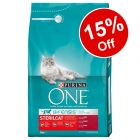 4 x 3kg Purina ONE Dry Cat Food - 15% Off!*