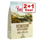 3 x 1kg Purizon 80:20:0 Grain-Free Dry Dog Food - 2 + 1 Free!*