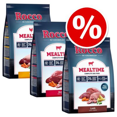 3 x 1kg Rocco Mealtime Mixed Pack Dry Dog Food - Special Price!*