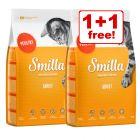2 x 1kg Smilla Dry Cat Food - 1 + 1 Free!*