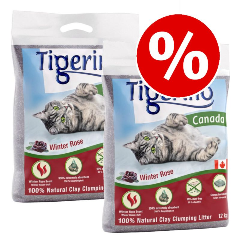 2 x 12kg Tigerino Canada Winter Rose Cat Litter - Special Price!*