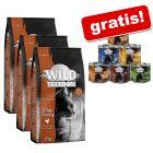 3 x 2 kg Wild Freedom hrană uscată + 6 x 200 g hrană umedă gratis!