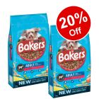 2 x 12.5kg/14kg Large Bags Bakers Dry Dog Food - 20% Off!*